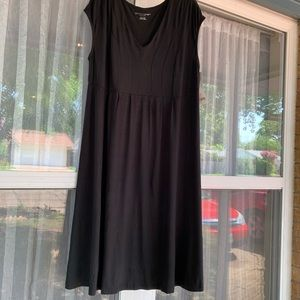 Women's sleeveless v- neck maternity dress